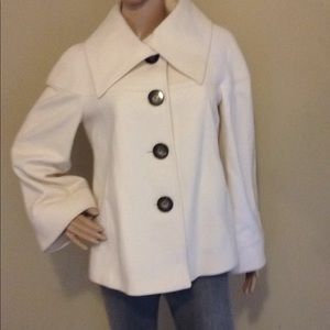 Antonio Melani Ivory Wool Coat